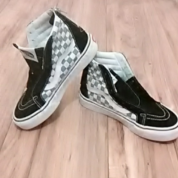 Euc Adorable Checkered Vans Youth Size